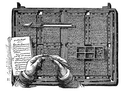 Typesetter Poster by Science Photo Library