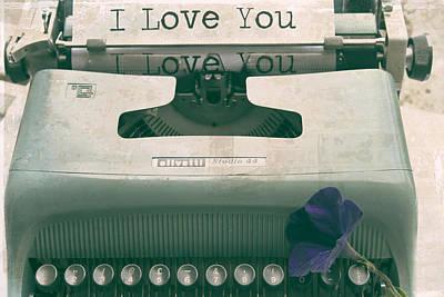 Typewriter Love Poster by Georgia Fowler