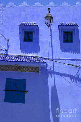 Poster featuring the photograph Typical Blue Facade In The Medina Of Asilah On Northwest Tip Of Atlantic Coast Of Morocco by Ralph A  Ledergerber-Photography