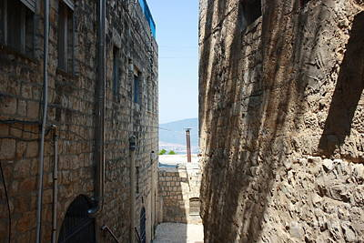 Tzfat Narrow Path Poster