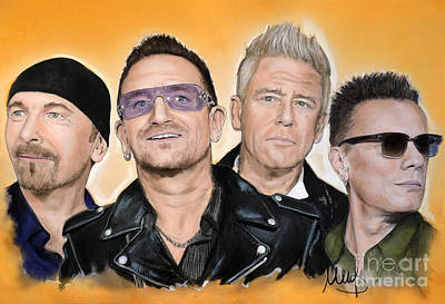 U2 Poster by Melanie D