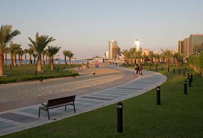 Uae, Abu Dhabi Part Of The Walkway Poster by Jaynes Gallery