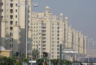Uae, Dubai Apartment Buildings Next Poster