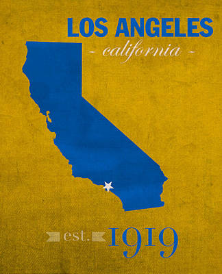 Ucla University Of California Los Angeles Bruins College Town State Map Poster Series No 026 Poster by Design Turnpike