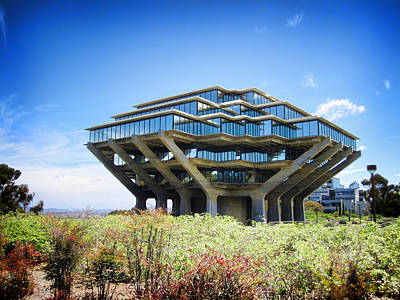 Poster featuring the photograph Ucsd Geisel Library by Nancy Ingersoll
