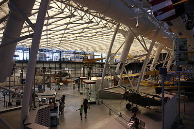 Udvar-hazy Center - Smithsonian National Air And Space Museum Annex - 121250 Poster by DC Photographer