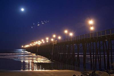 Ufo's Over Oceanside Pier Poster