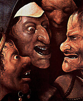 Poster featuring the digital art Ugly Faces by Hieronymus Bosch