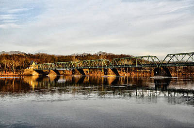 Uhlerstown Frenchtown Bridge In Early Spring Poster by Bill Cannon