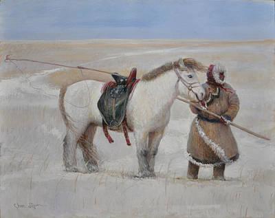 Ujumchin Herdsmen In Winter Pastures Poster