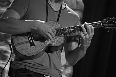 Ukulele Master In Black And White Poster