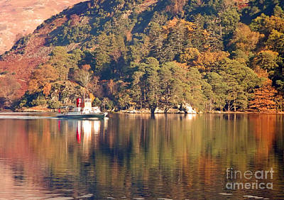 Ullswater Steamer Poster by Linsey Williams