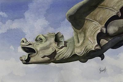 Ulmer Munster Gargoyle Poster