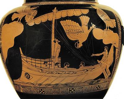 Ulysses And The Sirens. Ca.  450 Bc Poster by Everett
