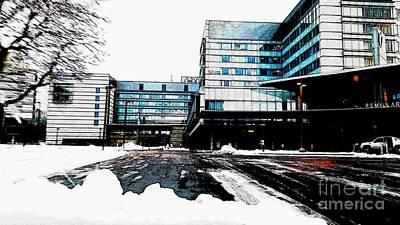 Umass Medical Center Poster by Rose Wang