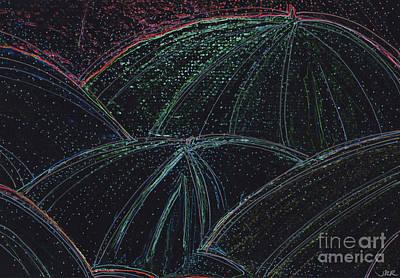 Umbrella Night By Jrr Poster