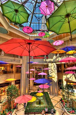 Umbrellas At Palazzo Shops Poster