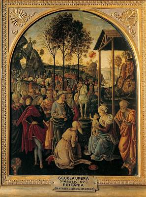 Umbria Artist, End Of 15c, Adoration Poster by Everett