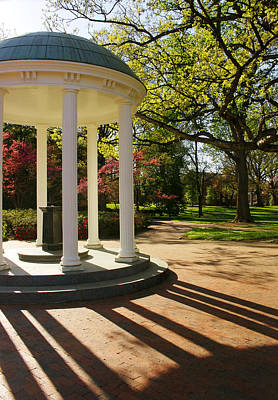 Unc-ch Old Well And Mccorkle Place Poster by Orange Cat Art