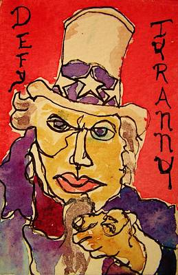 Uncle Sam Defy Tyranny Poster by Rand Swift