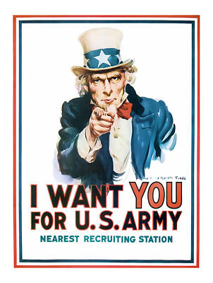 Uncle Sam Poster by Presented By American Classic Art