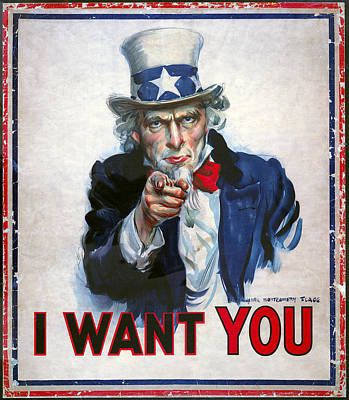 Uncle Sam Wants You Poster by Daniel Hagerman