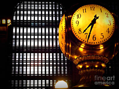 Under The Famous Clock Poster by Miriam Danar