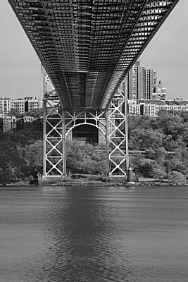 Under The George Washington Bridge II Bw Poster by Susan Candelario