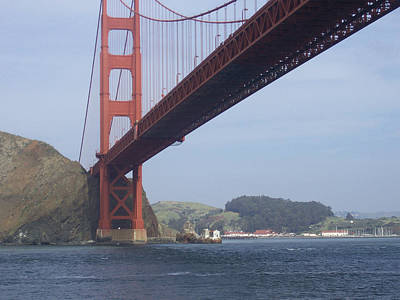 Under The Golden Gate - San Francisco Golden Gate Bridge 2006 - Scenic Photography - Ai P. Nilson Poster