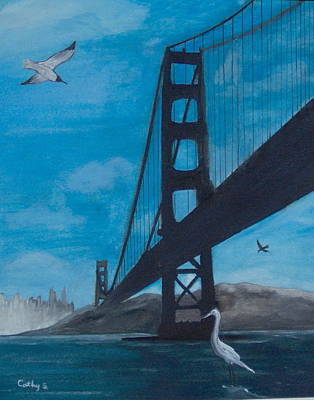 Under The Golden Gate Bridge Poster