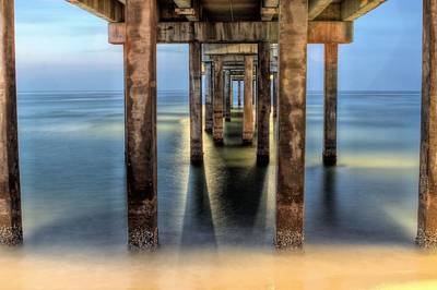 Under The Gulf Shores Pier Poster by JC Findley
