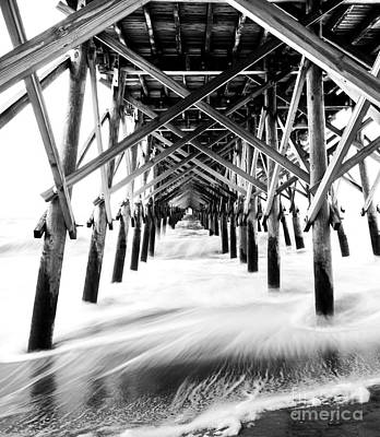 Under The Pier Folly Beach Poster