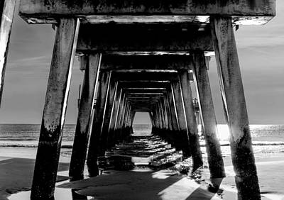 Poster featuring the photograph Under The Pier by Frank Bright