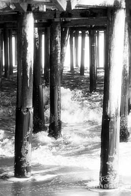 Under The Santa Monica Pier Poster by John Rizzuto