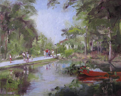 Under The Willows In The Crystal Bridges Pond Poster