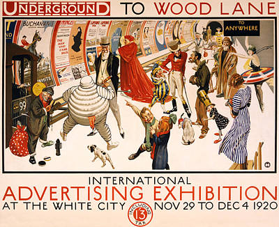 Underground To Wood Lane To Anywhere Poster by Georgia Fowler