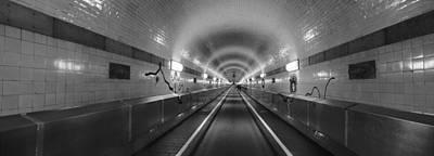 Underground Walkway, Old Elbe Tunnel Poster
