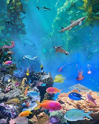 Undersea Hidden Objects Poster