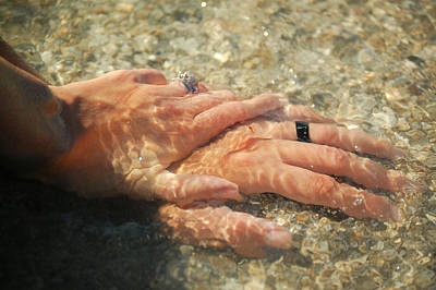 Poster featuring the photograph Underwater Hands by Leticia Latocki