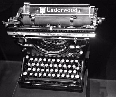 Underwood Typewriter Poster by Dan Sproul