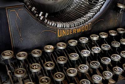 Underwood Typewriter Details Poster by Susan Candelario