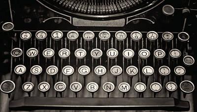 Underwood Typewriter Poster by Heather Applegate