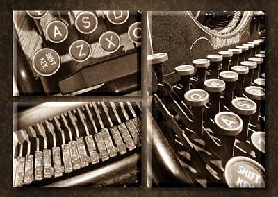 Underwood Typewriter Poster
