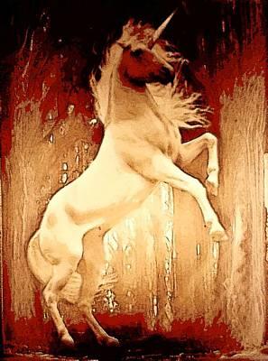 Unicorn Poster by David Alvarez