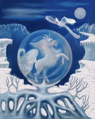 Unicorn In A Bubble Poster by Glenn Holbrook