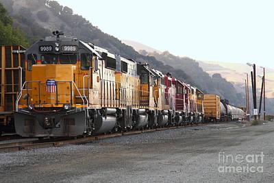 Union Pacific Locomotive Trains . 7d10563 Poster