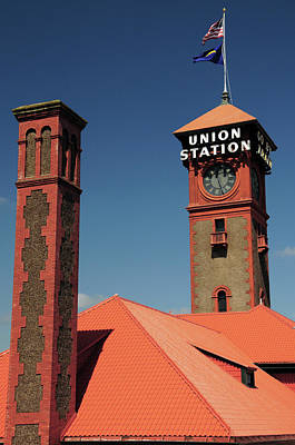 Union Station, Portland, Oregon, Usa Poster by Michel Hersen
