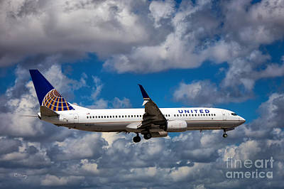 United Airlines Boeing 737 Ng Poster