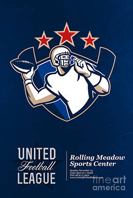 United Gridiron Football League Poster Poster by Aloysius Patrimonio