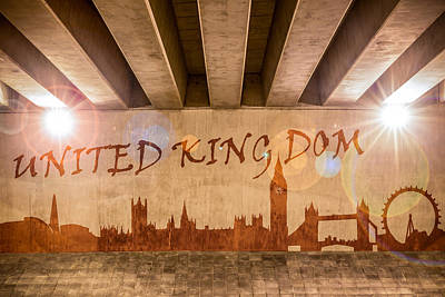 United Kingdom Graffiti Skyline Poster by Semmick Photo